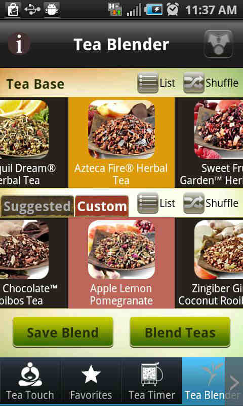 tea blender-tea choices