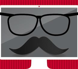 glasses-mustache image-deception