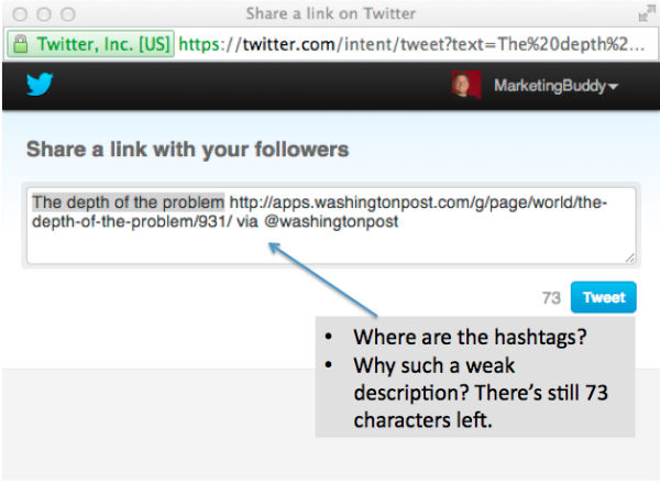 share link-twitter-depth of problem