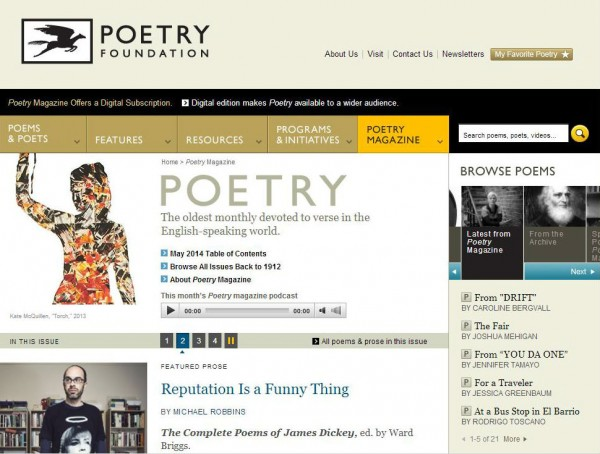poetry website example