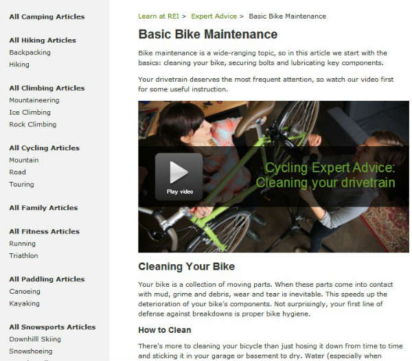 basic bike maintenance-video image