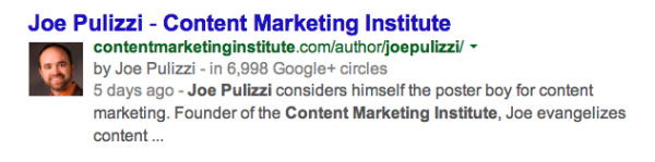 joe pulizzi search authorship example