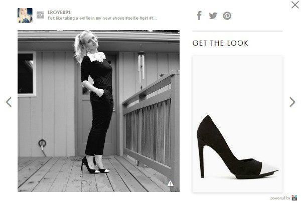 blond woman modeling high-heeled shoes