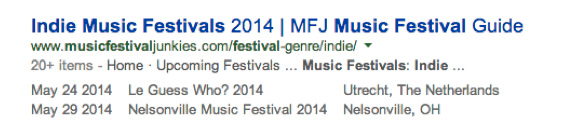 search example-indie music festivals