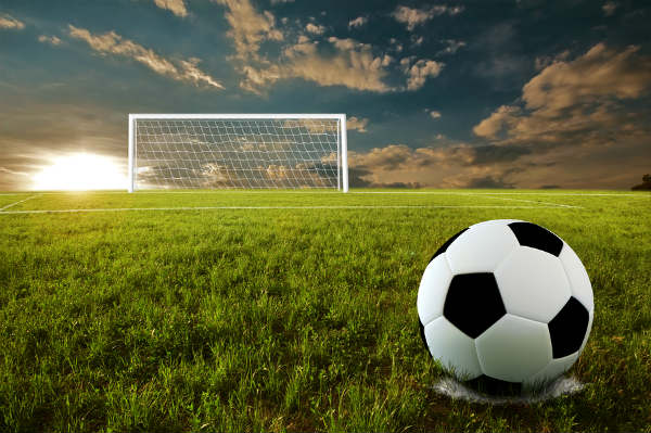 Soccer goal background