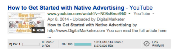 search example-native advertising video