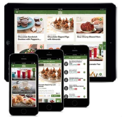 tablet, smartphones-whole food content