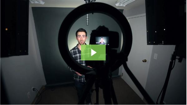 man making video-example