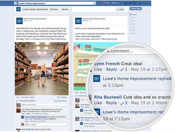facebook page-circular closeup