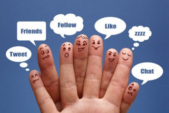 fingers with faces-social media sayings