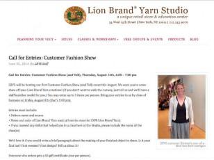 woman-white cardigan-lion brand yarn example