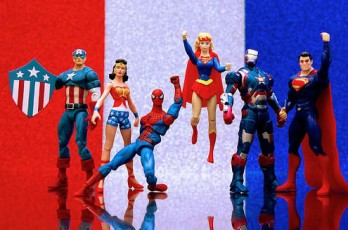 superhero action figures-red,white,blue