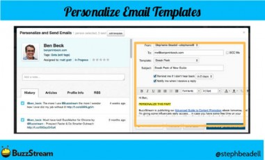 example-personalize email