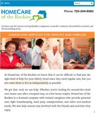 homecare of the rockies-vertical tablet example