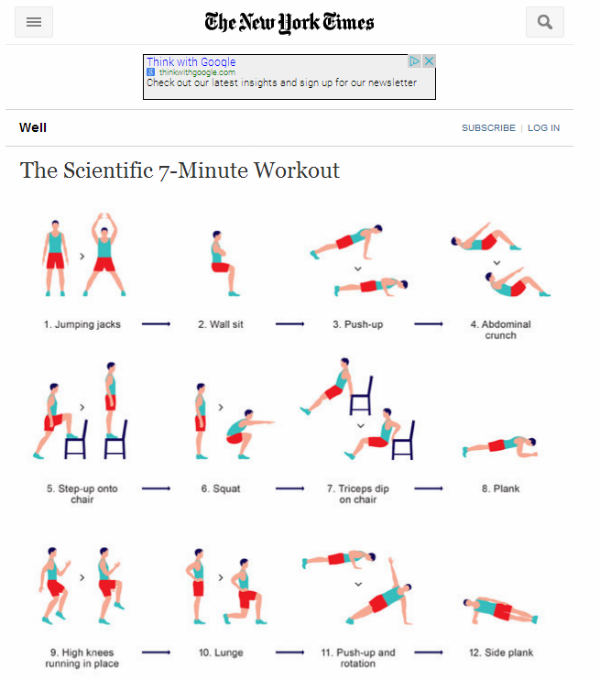 figure doing exercises-scientific 7-minute workout