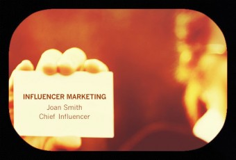 hand holding card-influencer marketing