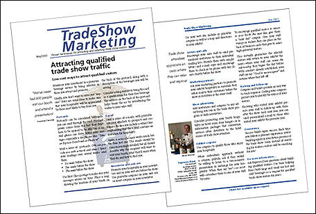 trade show marketing-newsletter example