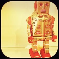 orange-tinted robot