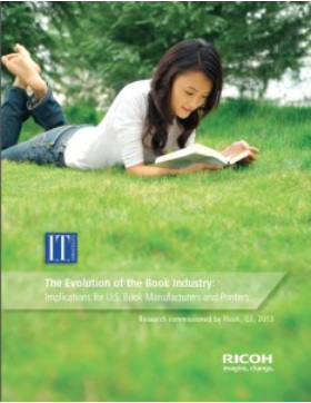 girl reading book-green grass-ricoh image