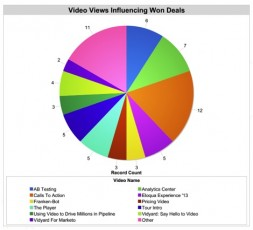 colorful pie chart-video views