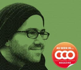 smiling guy in hat, glasses-cco logo