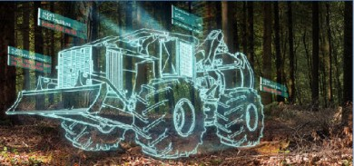 front-end loader image-blue outline