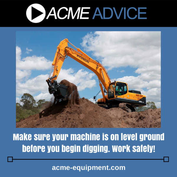 earthmoving equipment-acme advice example