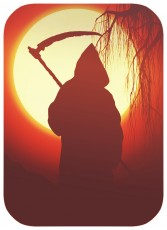 grim reaper image with scythe