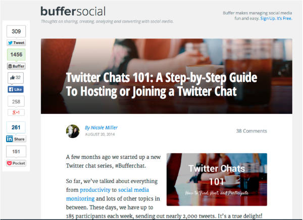buffer social example-twitter chats 101