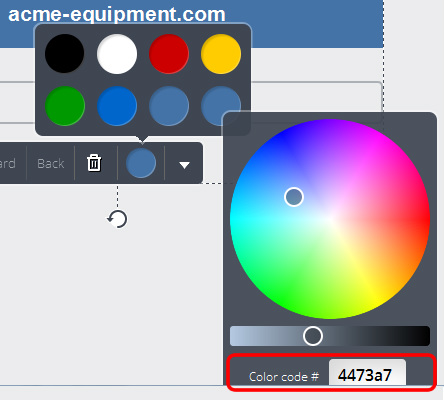 color code example-colorful circles
