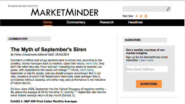 example marketminder enewsletter