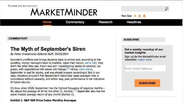 example marketminder enewsletter