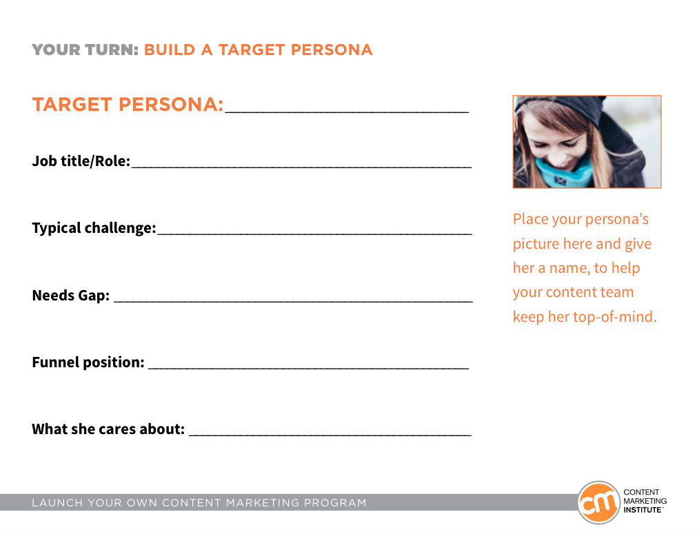 How to create easy yet actionable content marketing personas for Marketing to builders