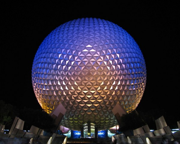 Spaceship-Earth-night
