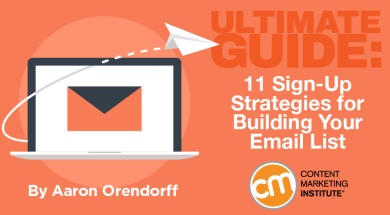 Ultimate Guide 11 Sign Up Strategies For Building Your Email List