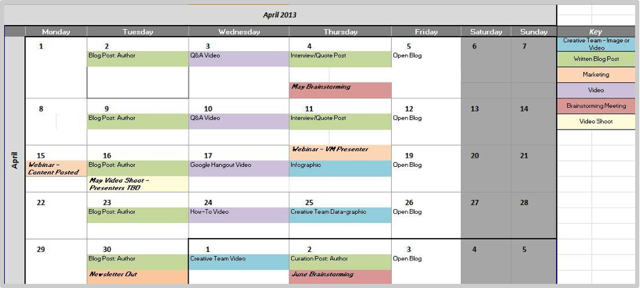 Calendar Art Xls : How to bring art and science managing a content calendar