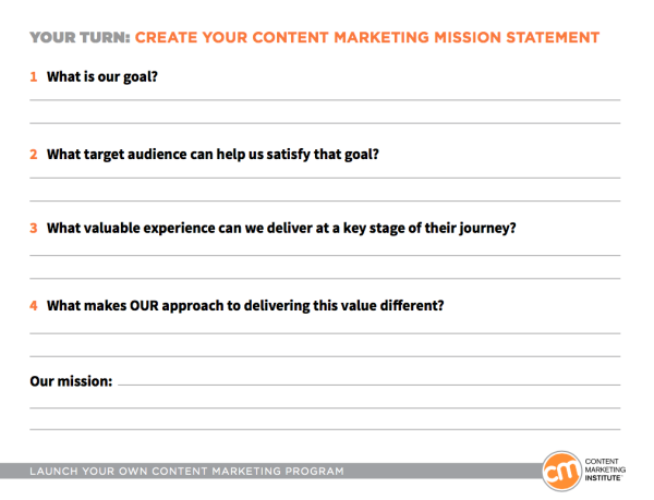 content marketing mission