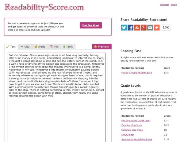 readability-score.com