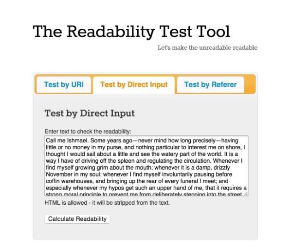 readability-test-tool