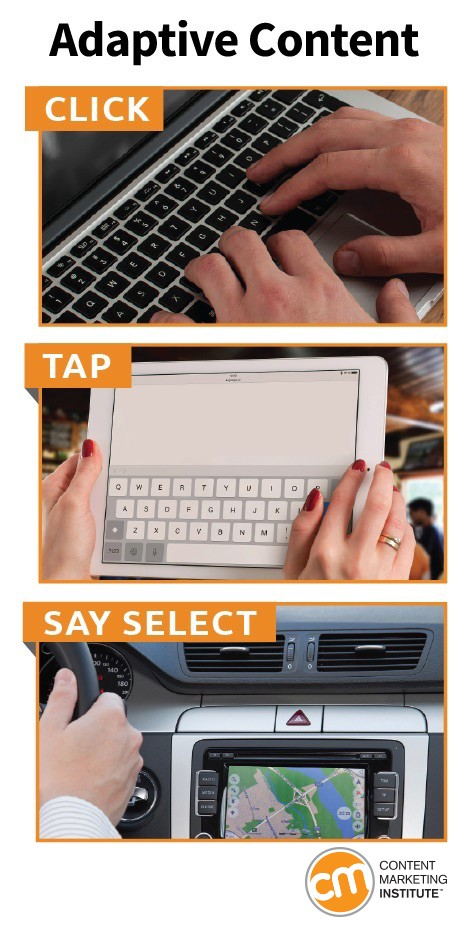 Adaptive-content-click-tap-say select