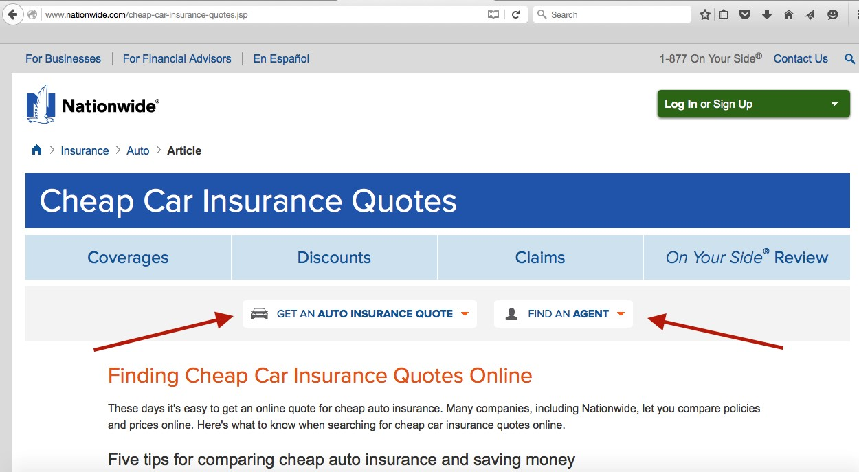 Nationwide Cheap Car Insurance