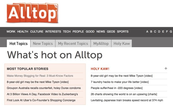 Blog-aggregator-Alltop
