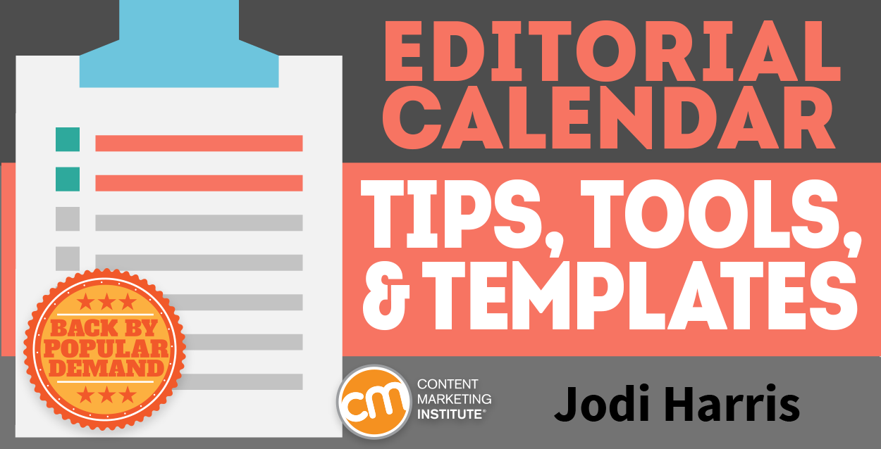Editorial Calendar Tips Tools And Templates - Content creation template