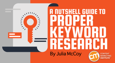 a nutshell guide to proper keyword research