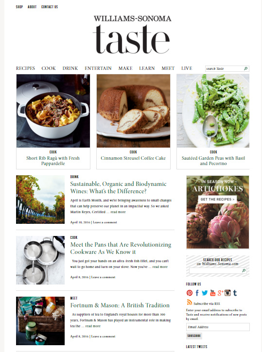 williams-sonoma-website-example