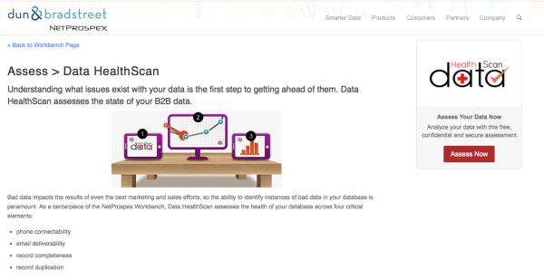 Netprospex data health scan