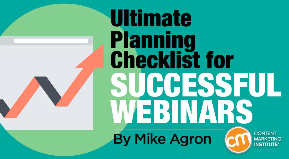 Webinars: Ultimate Planning Checklist for Success