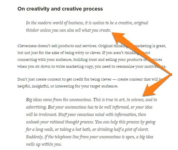 Copyblogger David Ogilvy example