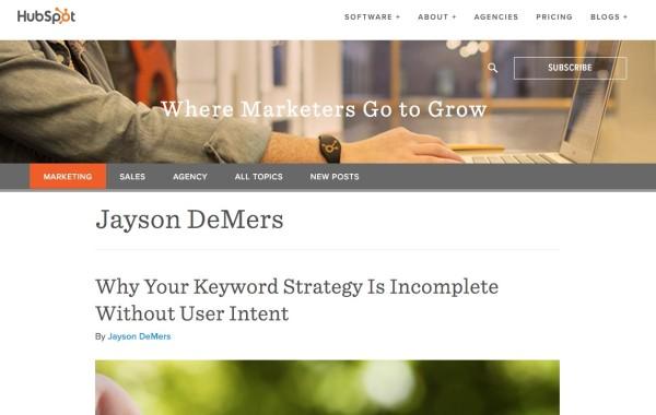HubSpot-Jayson DeMers