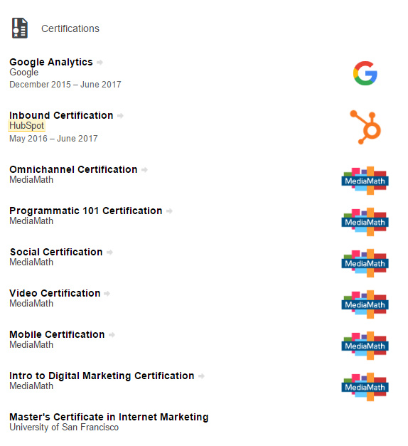 certifications-linkedin-example